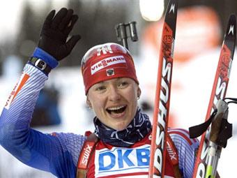 Российская биатлонистка выиграла гонку этапа Кубка мира