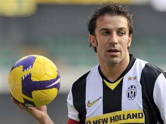 Дель Пьеро назван лучшим игроком чемпионата Италии