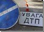 В Крыму из-за гололеда перевернулся бензовоз