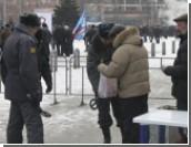 После митинга рабочих на Привокзальной площади было задержано порядка десяти человек
