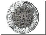 Банк Латвии выпустил гранитные монеты