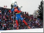 Российский биатлонист пришел вторым в масс-старте