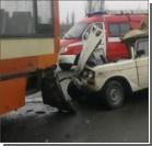 На въезде в Харьков авария: рейсовый автобус и четыре автомобиля. Фото