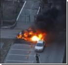 В Киеве взорвался внедорожник. Фото