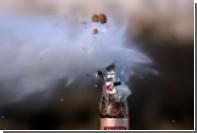 Американец открыл бутылку шампанского с помощью снайперской винтовки