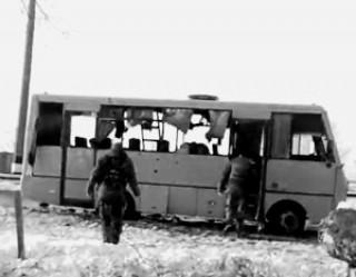 Под Донецком обстрелян пассажирский автобус: 10 жертв