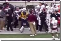 Тренер дважды напал на игроков в американский футбол во время матча