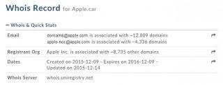 Apple зарегистрировала доменные имена apple.car и apple.auto