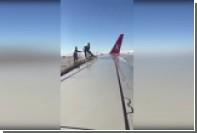 Самолет Turkish Airlines попытались помыть водой из «баклажки»