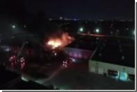 В Детройте загорелся автобусный терминал
