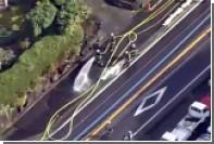 В результате ДТП в Японии на дорогу вылилось 2 тысячи литров соляной кислоты