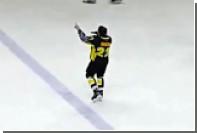Игрок клуба ВХЛ после матча спел на льду песню Стаса Михайлова