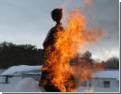 Масленица 2012: чучело сожгут в фонтане