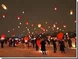 Московская полиция запретила влюбленным запускать небесные фонарики