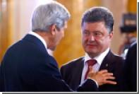 Керри напомнил Порошенко об обещании дать особый статус Донбассу