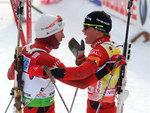 Норвежские биатлонисты угнали машину Слепцовой