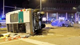 Тестовый BMW 7-Series разбился о полицейскую машину