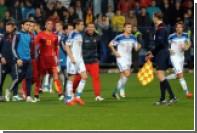 Россия подала протест в связи с решением продолжить матч в Черногории