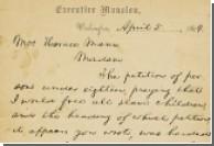 Письмо Линкольна ушло с аукциона за 3,4 миллиона долларов