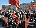 Социологи: россияне стали лучше относиться к Ленину  / Коммунисты отметили день рождения своего вождя