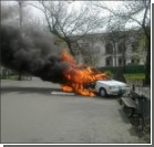 В центре Киева взорвалась автокофейня. Видео