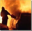 В Киеве за два часа сгорело шесть машин