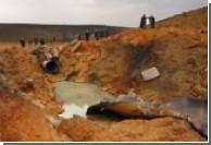 На месте взрыва газопровода под Киевом земля стала ядовито-оранжевой