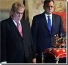 Россияне напоили президента Чехии. Видео