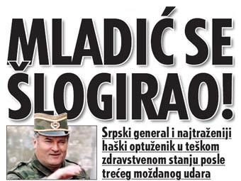 Ратко Младич перенес очередной инсульт