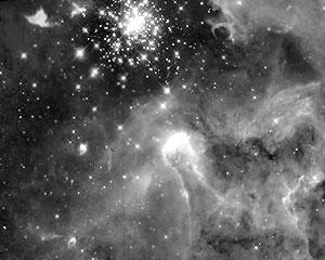 Модель столкновения галактик