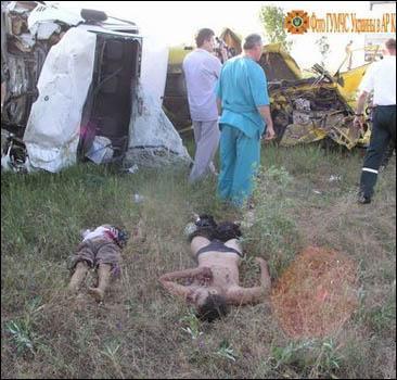 Украинцы погибли в кровавом месиве