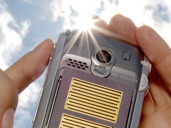 Создатели MP3 сконструировали сотовый телефон с солнечной батареей