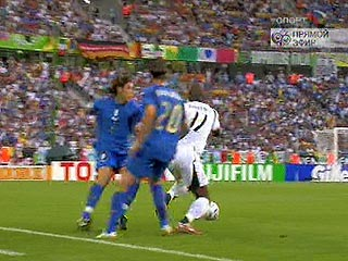 ЧМ-2006: Италия - Гана 0:0. Первый тайм