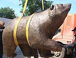 В Перми появился огромный медведь из бронзы