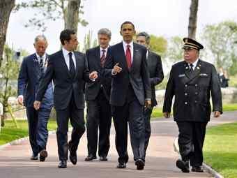Лидеры четырех стран отметили юбилей высадки в Нормандии