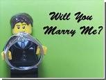 Житель Нью-Йорка сделал возлюбленной лего-предложение