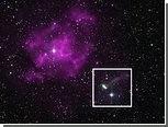 Пульсар-лихач попался на камеру телескопа