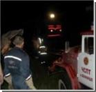 В Виннице микроавтобус упал с моста. Видео