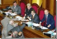 Верховная Рада провела вечернее заседание за десять минут
