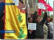 """Российские левые митингуют под знаменем """"Хизбаллы"""""""