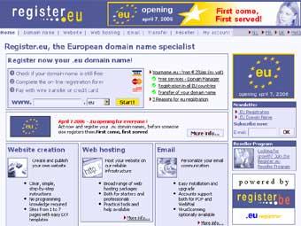Тысячи доменных имен в зоне .EU заблокированы