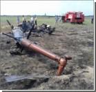 Под Херсоном упал вертолет. Фото