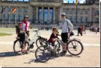 Семилетний мальчик доехал на велосипеде из Швеции в Германию