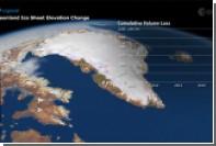 Зафиксированы рекордные потери Гренландией ледяного покрова
