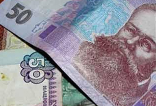 Украинская гривна опередила евро