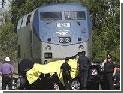 В Турции поезд протаранил строительную машину
