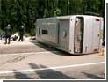 Автобус с 25 пассажирами перевернулся на Украине