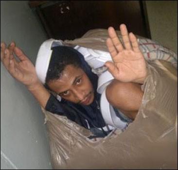 Зэки организовали побег в мусорных мешках. Фото