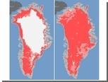 Теплое лето заставило Гренландию потемнеть