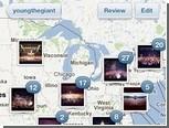 Instagram разместил фотографии пользователей на карте